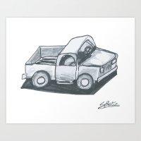 truck Art Prints featuring Truck by Stephen Batiz
