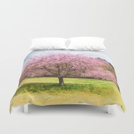 Beautiful cherry blossoms Duvet Cover