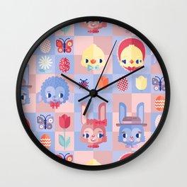 Happy Easter! Pattern Wall Clock