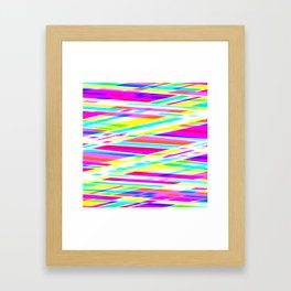 Abstract Lines Z Framed Art Print