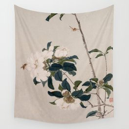 Insects and Flowers Wall Tapestry