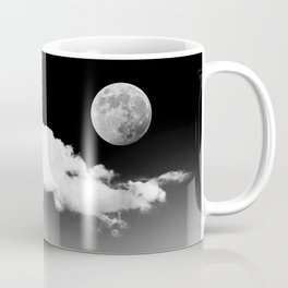 Black Desert Sky & Moon // Red Rock Canyon Las Vegas Mojave Lune Celestial Mountain Range Coffee Mug