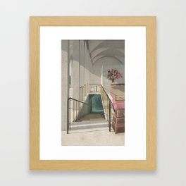Bathhouse Entry Framed Art Print