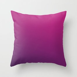 PURPLE HAZE - Minimal Plain Soft Mood Color Blend Prints Throw Pillow