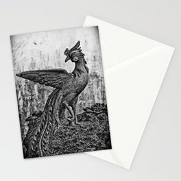 Stone Peacock Stationery Cards