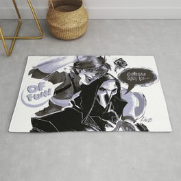 Tracer and Reaper Rug