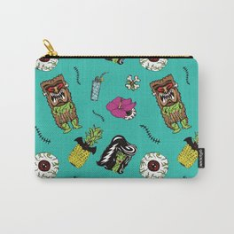 Haunted Psychobilly Luau Toss in Retro Aqua Carry-All Pouch