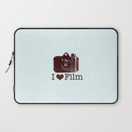 I ♥ Film (Maroon/Aqua) Laptop Sleeve