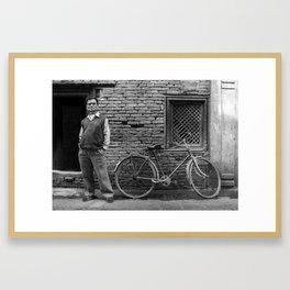 Kathmandu Bike Framed Art Print