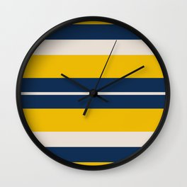 Pearl Corn Zodiac Stripes Wall Clock