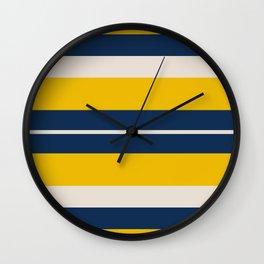 Pearl Corn Zodiac Stripes Wall Clock