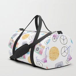 flowers, cupcakes, bicycles and cameras Duffle Bag