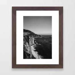 Monochrome Big Sur Framed Art Print