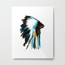 Indian Headdress Native America Illustration Metal Print