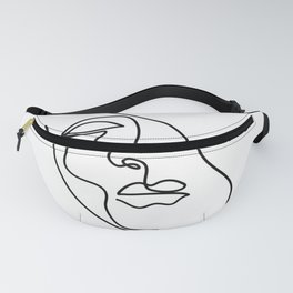 Abstract minimalistic continuous line drawing Fanny Pack