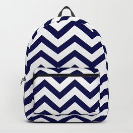 Simple Chevron Pattern - Blue & White - Mix & Match with Simplicity of life Backpack