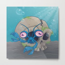 Eye Crustacea Metal Print