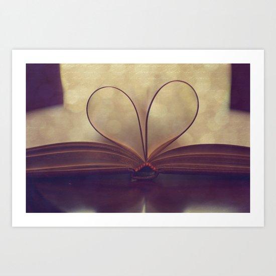 Love of the Book Art Print