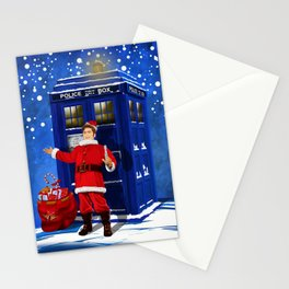 10th Doctor who Santa claus Stationery Cards