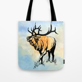 ELK IN THE MIST Tote Bag