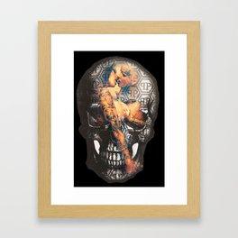 SKULL WITH GIRLS Framed Art Print