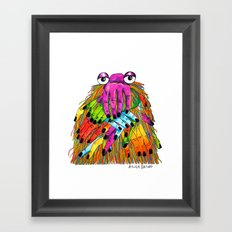 Imaginary Friend Monster Framed Art Print