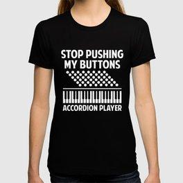 Accordion Player Melodeon Piano Accordionist Gift T-shirt