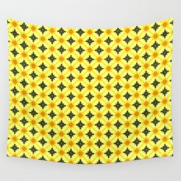 Soft Yellow Pattern Wall Tapestry