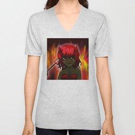 Miss devil Unisex V-Neck