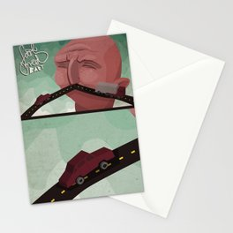 Mustache speed Stationery Cards