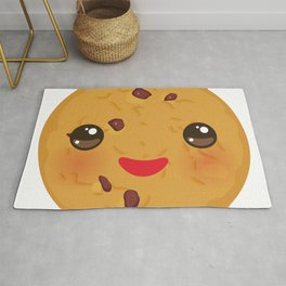 Kawaii Chocolate chip cookie Rug