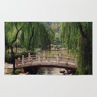 asian Area & Throw Rugs featuring Asian Garden by MehrFarbeimLeben