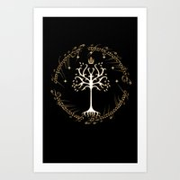 gondor Art Prints featuring tree of gondor by skymerol