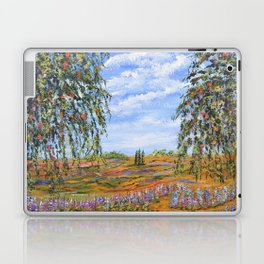 Lupines & Peaches, Modern Impressionism Painting, modern art Laptop & iPad Skin
