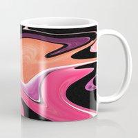 lipstick Mugs featuring Lipstick by AZerhusen