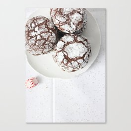 Chocolate candy cake cookies Canvas Print
