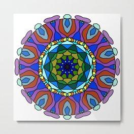 pastel fractal mandala Metal Print