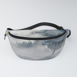 Wolves Among the Snowcapped Mountain Fanny Pack