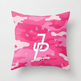 pink camoflag Throw Pillow