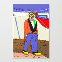 clown Canvas Prints featuring clown by Karl-Heinz Lüpke