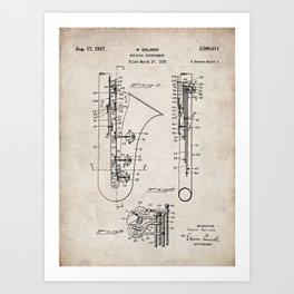 Selmer Saxophone Patent - Saxophone Art - Antique Art Print