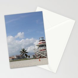 South Beach Miami Lifeguard Station Stationery Cards