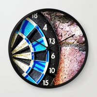 chess Wall Clocks featuring chess by gzm_guvenc