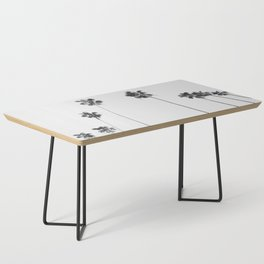 Black & White Palms Coffee Table