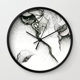 Creeping corners Wall Clock