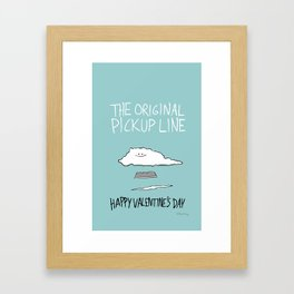 The Original Pickup Line Framed Art Print