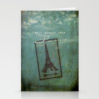 casablanca Stationery Cards featuring Paris by Sybille Sterk