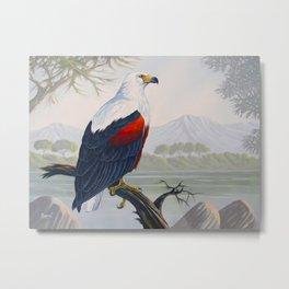 FISH EAGLE Metal Print