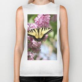 Swallowtail butterfly On Lilacs Biker Tank