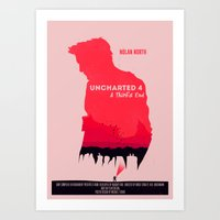 uncharted Art Prints featuring Uncharted 4 by Michael Fisher